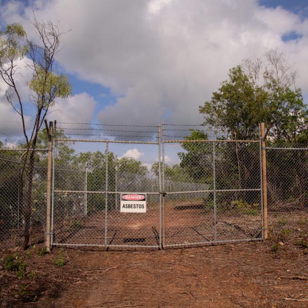 Channel Island Leprosarium site, 1931 – 1955, #3 (Asbestos sign)