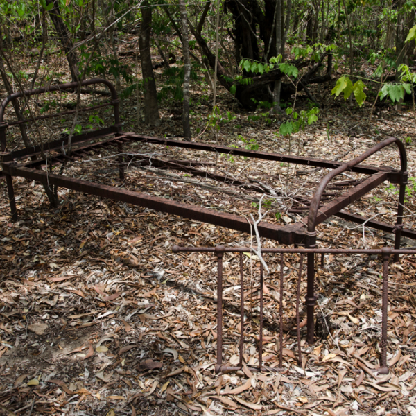 Channel Island Leprosarium site, 1931 – 1955, #5 (bed base), 7 April 2015