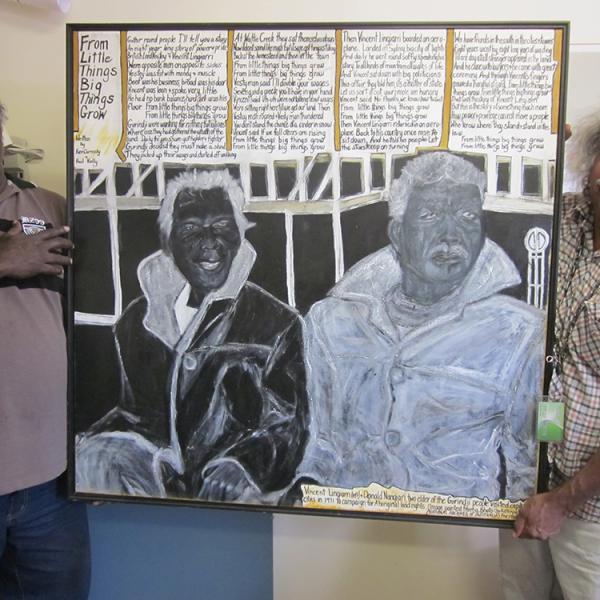 Maurie Ryan Japarta and Michael Paddy Japarta, Kalkaringi School #2, 16 April 2012