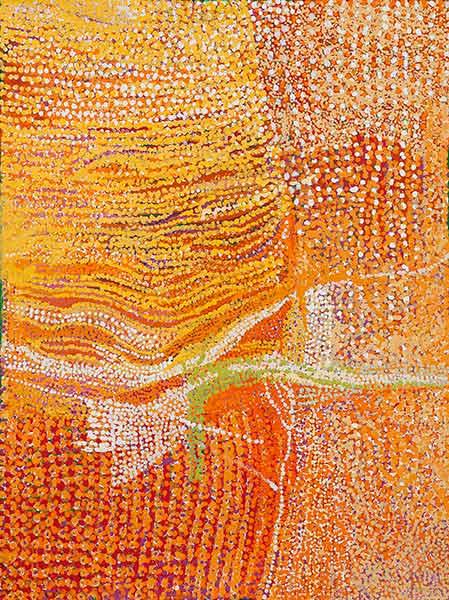 Tjulpuntjulpunpa Talitjara (Wildflowers in the Sandhills) (19-582) 102 x 76cm