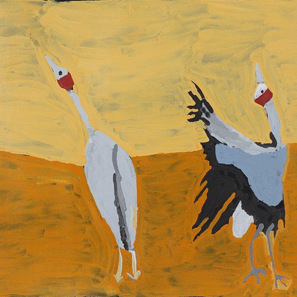 Dancing Brolga Cranes (20-548)