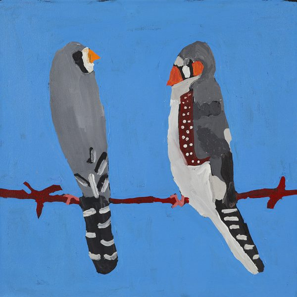 Finches on wire (20-839)