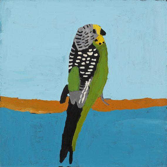 Green Budgie (20-780) by Nyangulya Katie Nalgood