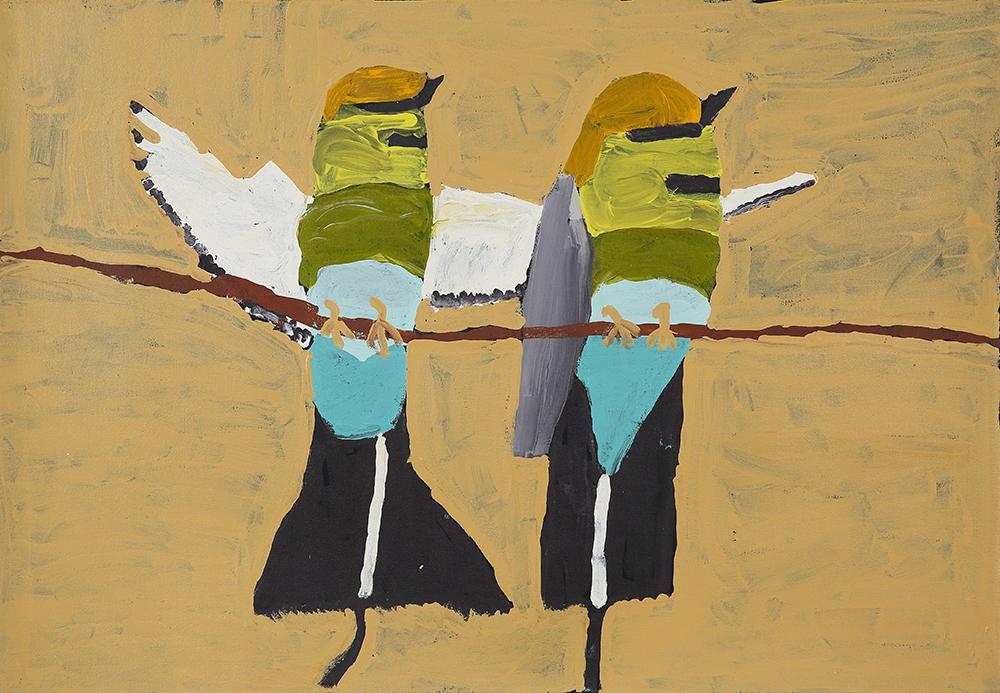 Two Rainbow Kingfishers (20-535)